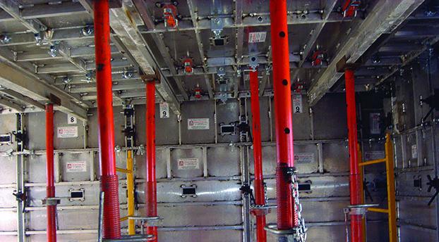 postes de apuntalamiento para encofrados de aluminio