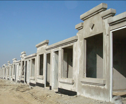 casa de concreto creada con formas de aluminio