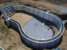 swimming pool forms concrete